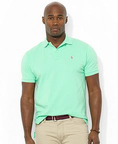 Polo Ralph Lauren Big and Tall Shirt, Classic-Fit Short-Sleeve Cotton Mesh