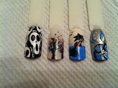 DIY halloween nails: DIY Halloween nail art : A bit of Everything
