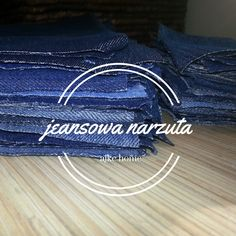 upcycling design, jeansowa narzuta Upcycling Design