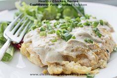 Healthy+Chicken+Recipe:+Cauliflower+and+Parm+Crusted+Chicken+with+Curry+Yogurt+Sauce