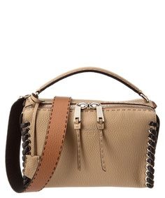 FENDI FENDI LEI SELLERIA LEATHER BOSTON BAG'. #fendi #bags #shoulder bags #hand bags #suede #lining #