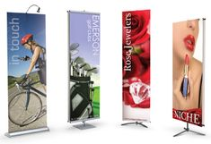 The wide #Banner_display_stand features a sleek design with three size options. Banners are placed on X-Frame stands by its 4 grommet hooks.http://www.blackpineprinting.com/products/bannerstands