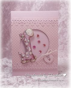 Baby Girl - Pink - Giraffe - Crafters Companion Wild About You