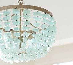Enya Sea Glass Chandelier #potterybarn