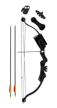 Velocity Rush 20lb Compound Bow | R670 • 85FPS • 2 arrows included • composite limbs and riser • accessories included