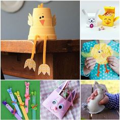 20 Easter Bunny & Chick Crafts - Have you made any cute Easter crafts yet? Here's 20 ideas to get your started   MollyMooCrafts.com