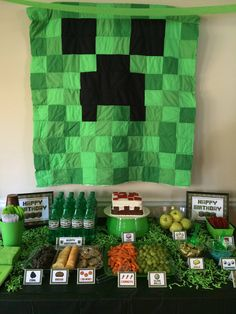 Minecraft birthday party.