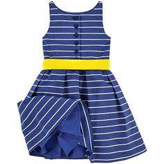 Ralph Lauren - Flower-shaped striped percale dress - 148946