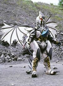 The White Terrorsaurus was a monster created from the Evil White Ranger Clone. Zeltrax uses his evil clone of the White Ranger to create the White Terrorsaurus. The White Terrorsaurus is very powerful and is able to kidnap the Dinozords. It requires the Power Rangers to unlock the Shield of Triumph, and the Red Ranger uses it to become the Triassic Ranger and destroys White Terrorsaurus.