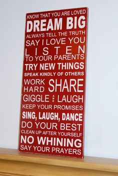 Cute family rules. Though no one in my family would make us say our prayers :P