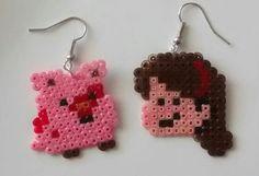 Gravity Falls Earrings Hama mini beads by VinyAndune