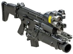 SCAR ® -H assault rifle equipped with CQC barrel and 40mm grenade launcher. - Image - Army Technology