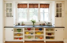 tips for remodeling without hating the process. plus I like the look of those dishes on the shelf