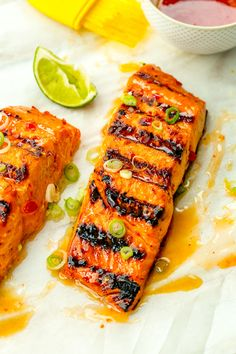 Sweet Chili-Lime Grilled Salmon  - Delish.com