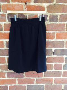 Black Smocked Skirt $35