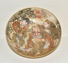 Antique Japanese Satsuma Porcelain Bowl Marked   eBay