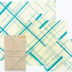 NEW Bee's Wrap Assorted 3-Pack Geometric Print