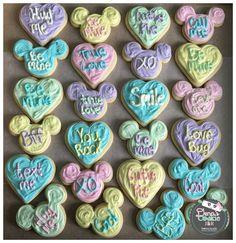 #MickeyMouse #MinnieMouse #ConversationHearts #Cookies