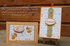 Herbstliches #karten#set mit #produkten von #StampinUp!. #KreativNicole