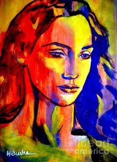 Like a madonna Painting by Helena Wierzbicki - Like a madonna Fine Art Prints and Posters for Sale