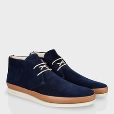 Paul Smith Shoes   Navy Loomis Chukka Boots