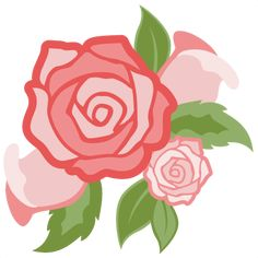 Daily Freebie 1-26-15: Miss Kate Cuttables--Rose Flower Group cut file SVG cutting file for scrapbooking flower svg cut files free svgs cute cut files for cricut