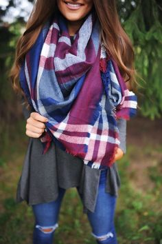 ●●pin @bethanyjoyfon How To Wear A Blanket Scarf, How To Wear Scarves, Casual Outfits, Cute Outfits, Fashion Outfits, Boho Fashion, Fall Winter Outfits, Autumn Winter Fashion, Dottie Couture Boutique