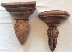 Carved Wood Hanging Wall Shelf  ~ Set of 2 ~ Home Decor
