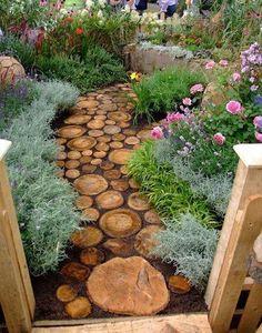 earthy, recycled outdoor walkway
