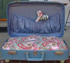 suitcase bed
