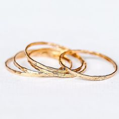 14k Gold and Rose Gold Stacker Rings || Available in our 'Bohemian' Collection || www.indieandharper.com