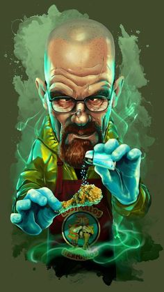 breaking bad shirt Who does not know Walter White? star of the hit series Breaking Bad. Ironically cartoon now available on your shirt! Walter White, Cartoon Kunst, Cartoon Art, Art Breaking Bad, Breaking Bad Funny, Breking Bad, Arte Dope, Heisenberg, Graffiti Art