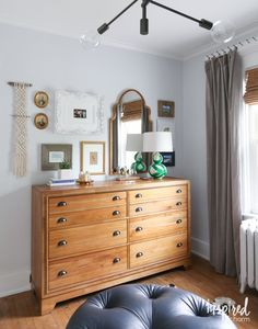 Tips and Tricks for creating an eclectic Bedroom Gallery Wall.