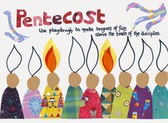 Flame: Creative Children's Ministry: Pentecost Play Dough Mat