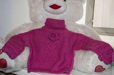 """Купить Детский свитер """"Африканский цветок"""" - фуксия, авторская ручная работа, свитер вязаный, детский"""