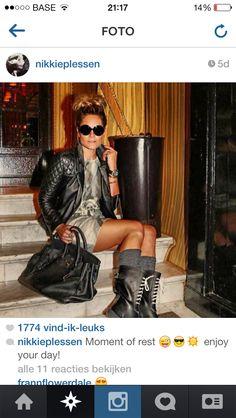 Paris style leather jacket  Nikkie Plessen
