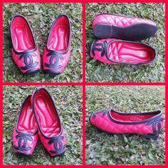 Sepatu Flat channel for kids  type : S379-173 CH red,black sz30-35  ukuran yang tersedia dari 24 - 30  PROMO @190