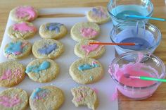 Painting your cookies.  Such fun for the kids