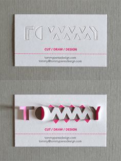 Tommy Paperkut Business card design 30+ Beautiful Examples of Modern Business Card Designs for Inspiration