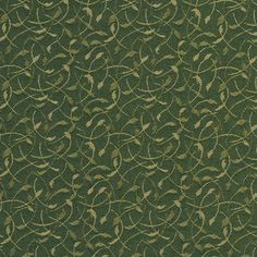 A733 Dark Green Leaves And Vines Contract Grade Upholstery Fabric By The Yard
