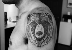 bear-unique-tattoo-ideas -for-men-on-sleeve ~ http://heledis.com/several-unique-tattoo-ideas-for-girls/