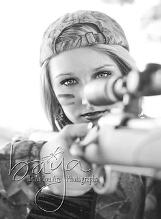 Hunting. love this picture, would have loved it in my wedding dress ;)