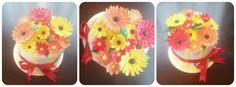 Bright flower cake gerbra. Smitten cakes