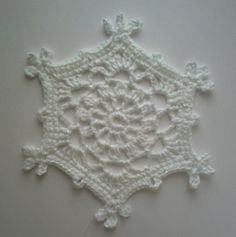 Virkad snöflinga! by TM - the crocheteer!, via Flickr