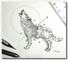 11da1c1b42df3 #wolftattoo #tattoo coy fish design, tattoos crosses pictures, dead tree  tattoo,