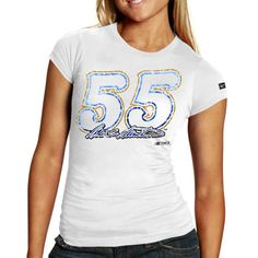 Chase Authentics Mark Martin Women's Big Number T-Shirt - White - $6.99