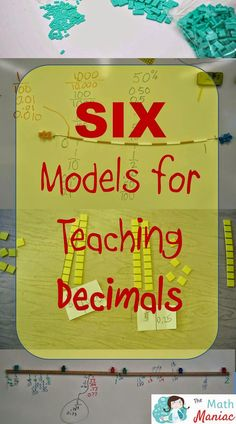 Improve your students understanding of PLACE VALUE with these SIX models for teaching decimals. Make sure your students have concrete, hands-on experiences before moving to abstract thinking. #math #decimals