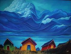 Young Studios is a gallery and studio owned and operated in Fogo Island Newfoundland by Adam Young. Art And Illustration, Landscape Illustration, Illustrations, Canadian Artists, New Artists, Canadian Painters, Modern Art, Contemporary Art, Pictures To Paint