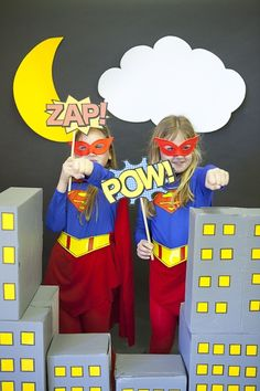 super hero photo booth | ... superhero masks or wrist cuffs. Creating a photo booth would be great