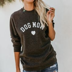 Womens CAT Dog MOM Heart Letter Print Long Sleeve Sweater Sweatshirt Blouse Tops * Learn more by visiting the image link. (This is an affiliate link) Fitness Hose, Dog Mom Shirt, Cat Dog, Shorts, Blouse, Mothers, Printer, My Style, Sweatshirts